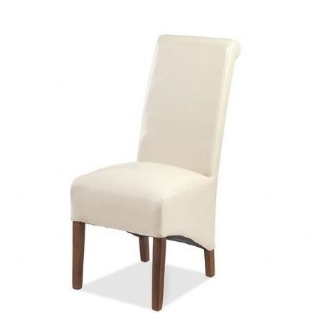 Talaja Cube Beige Bonded Leather Chair